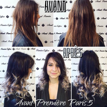 coloration ombre hair, hair contouring tendance